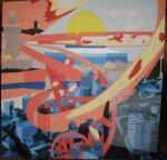 acrylic on canvas 160 x160