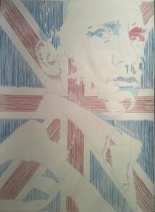 Daniel Craig Union Jack Pop Art