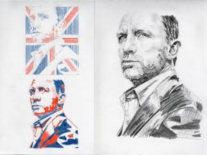 Daniel Craig sketches