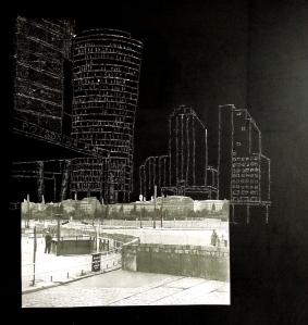 Potsdamer Platz blackboard